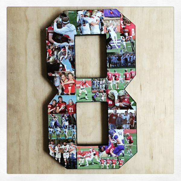 Thoughtful Gifts For Boyfriend Christmas: Photo Number, Photo Letter, Number Collage, Senior Night