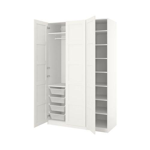 PAX Wardrobe White/bergsbo white IKEA Pax wardrobe, Ikea