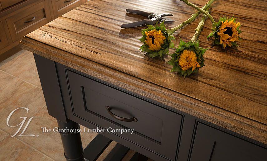 grothouse saxon wood™ island countertop | rustic kitchen island, wood countertops, rustic kitchen