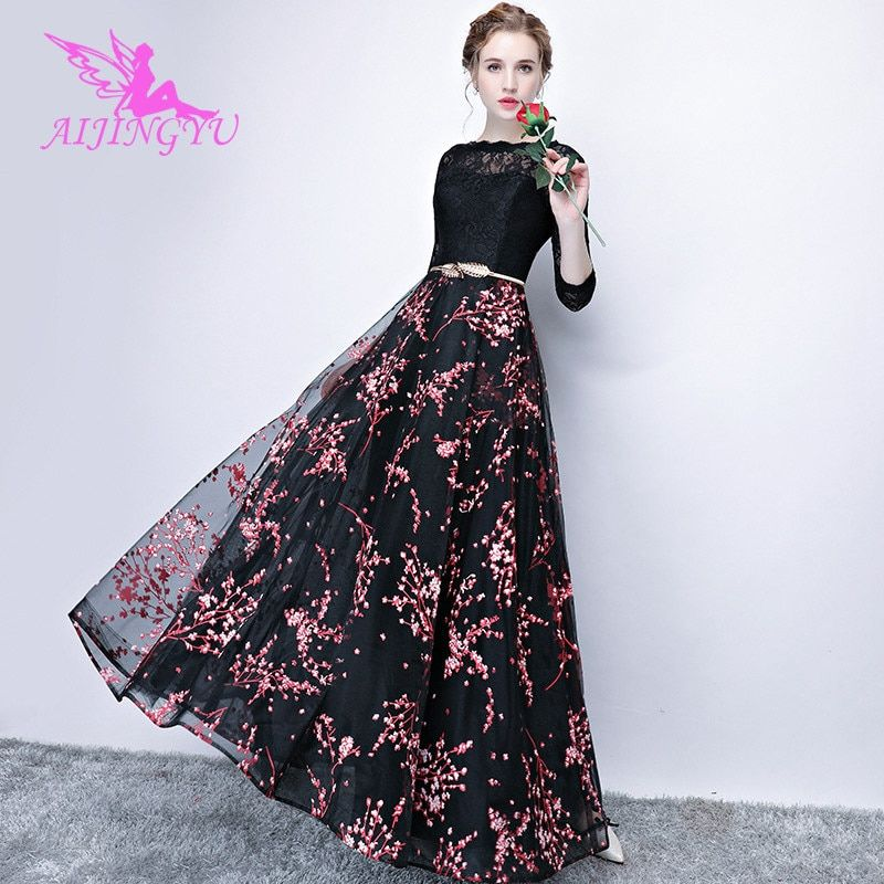 9b9b3fbded AIJINGYU Sexy Long Sleeve Evening Dress Party Gown 2018 Women ...