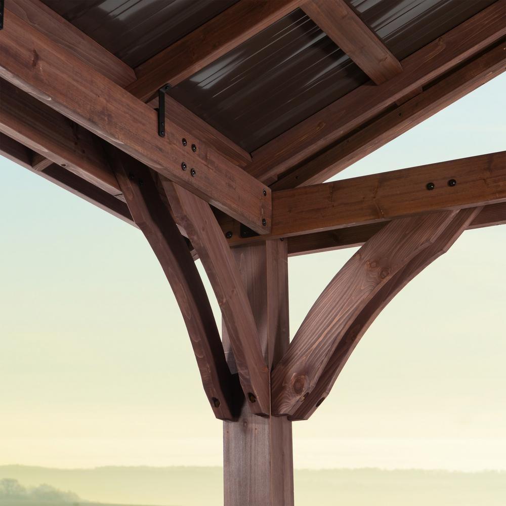 Backyard Discovery Arlington 12 ft. x 12 ft. Wooden Gazebo ... on Backyard Discovery Pavilion id=54061