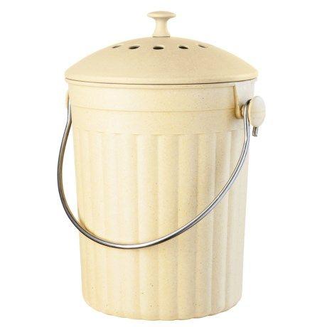 Oggi Oggi Countertop Compost Pail 128 Oz Compressed Bamboo