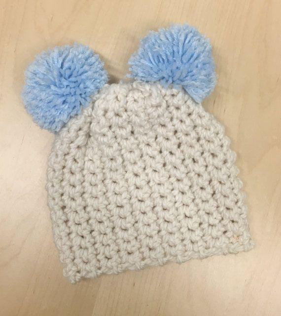 Teddy Bear Pom Pom Hat   My style   Pinterest