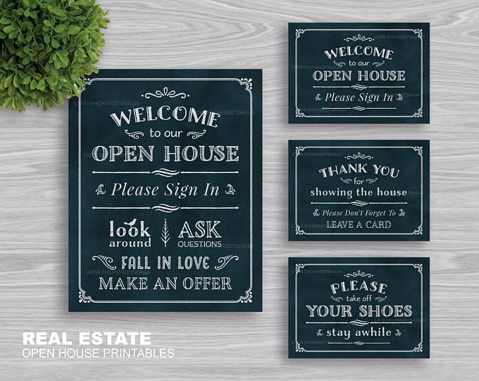 graphic regarding Welcome to Our Open House Printable named Genuine Estate \