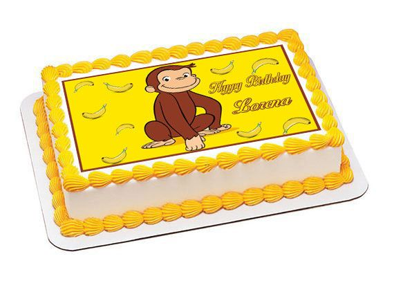 Curious George Edible Cake Decoration  from i.pinimg.com