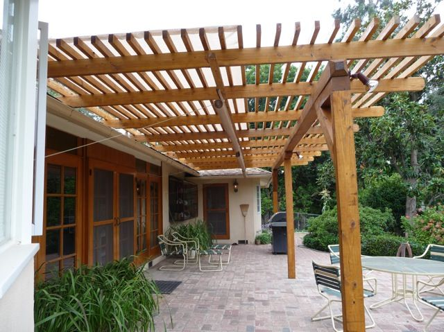 Amazing TimberSIL® Glass Wood Patio Trellis U2013 Pacific Palisades, CA