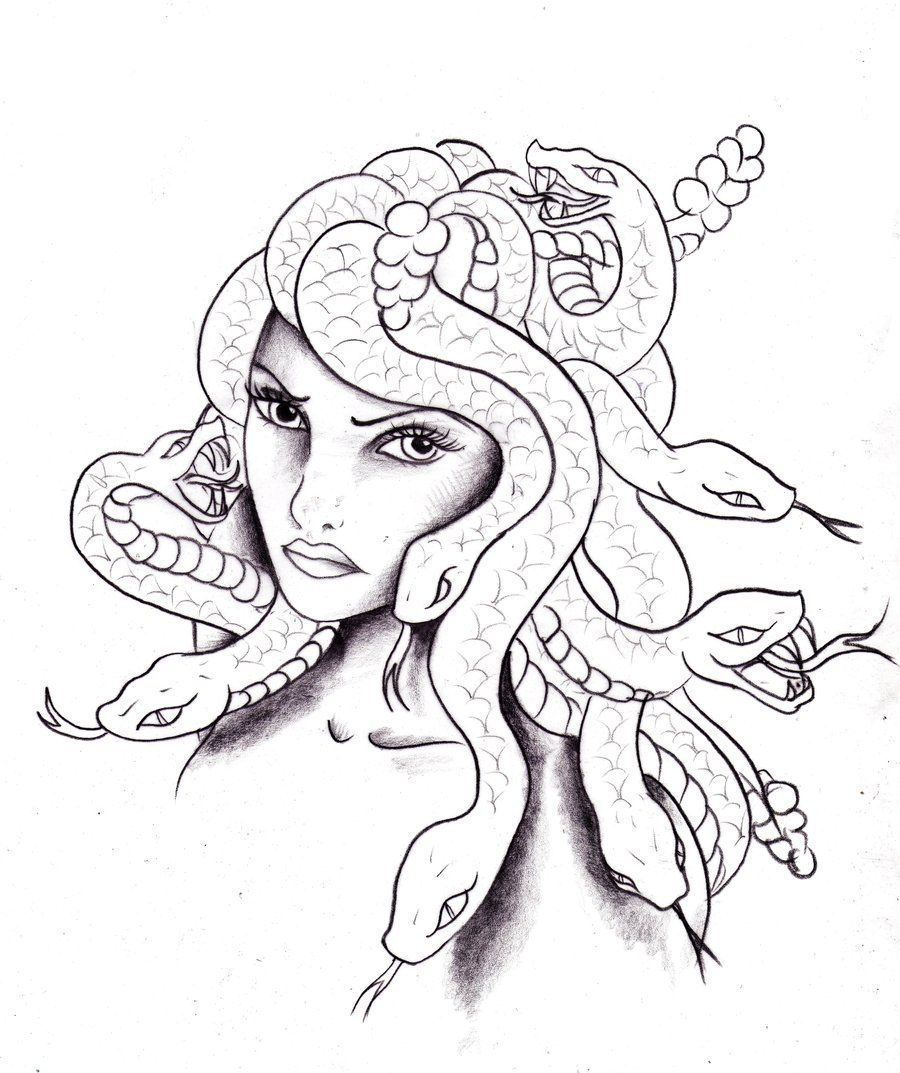 medusa coloring pages deviantart more