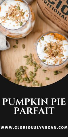 Try this Vegan Pumpkin pie parfait recipe! With these easy cooking steps you will surely love this v...