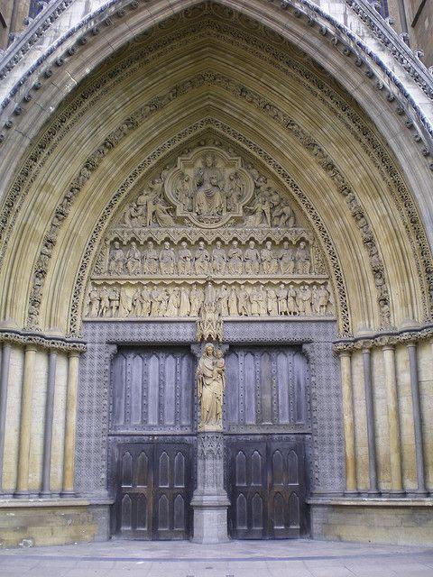 Westminster Abby front door (statues of 10 Christian martyrs) & Westminster Abbey North Door | Westminster abbey Westminster and ...