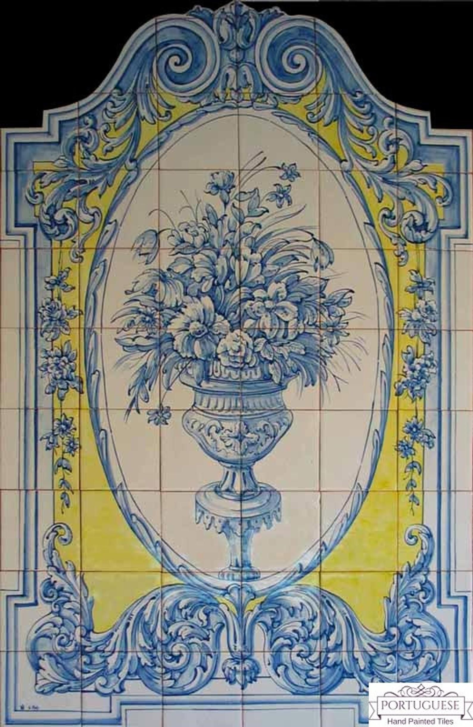 Portuguese Tiles Azulejos 55.1 X 35.4 BLUE Etsy in 2020