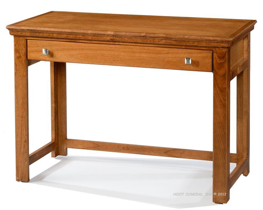 Alder Traditional 42 Laptop Computer Writing Desk In Hazelnut Finish Desk Wood Furniture Store Wood Office Furniture