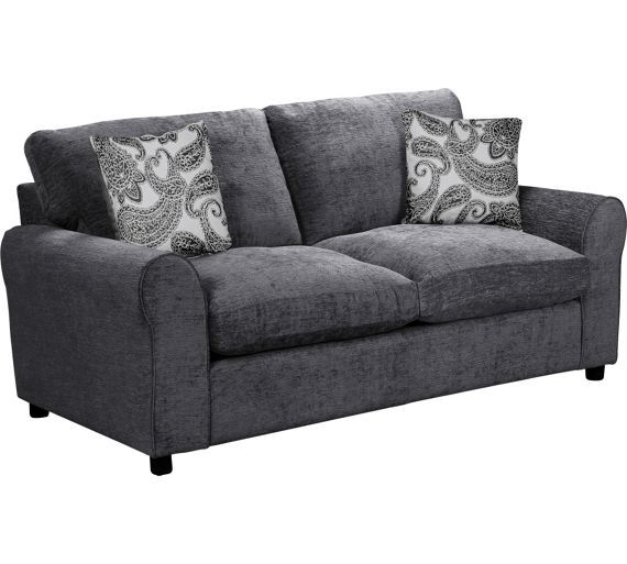 Marvelous Buy Home Tabitha 2 Seater Fabric Sofa Bed Charcoal At Machost Co Dining Chair Design Ideas Machostcouk