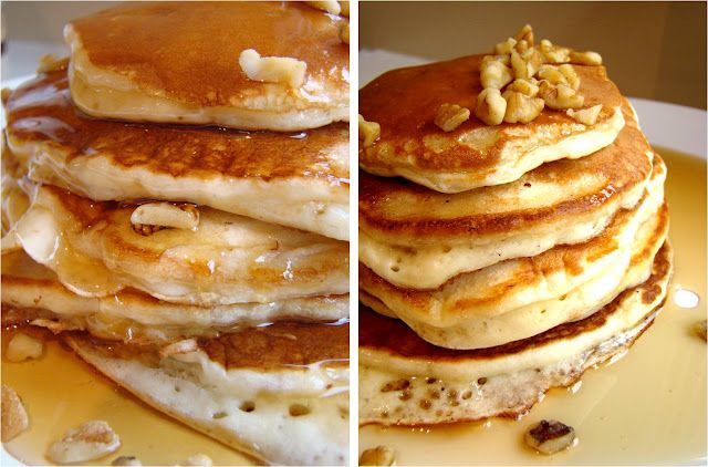 Simple and delicious buttermilk banana pancakes.
