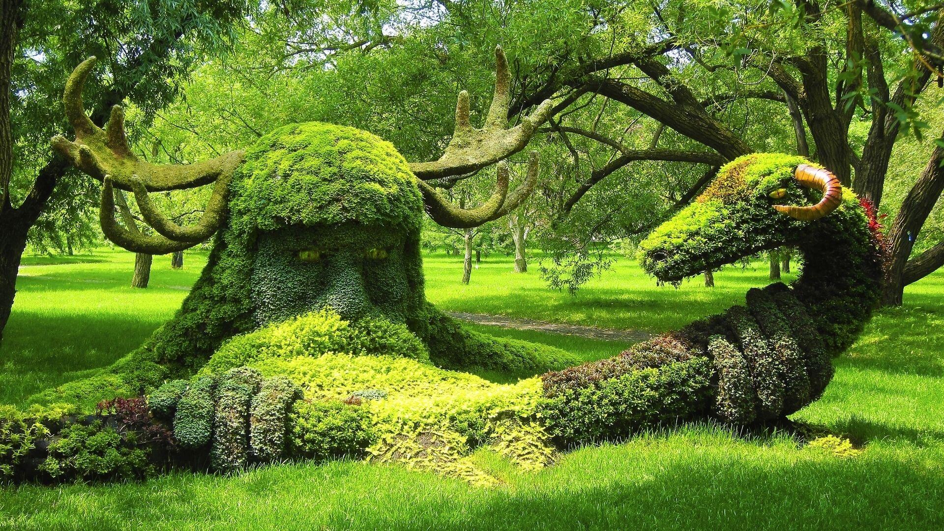 Amazing Viking In Montreal Botanical Garden