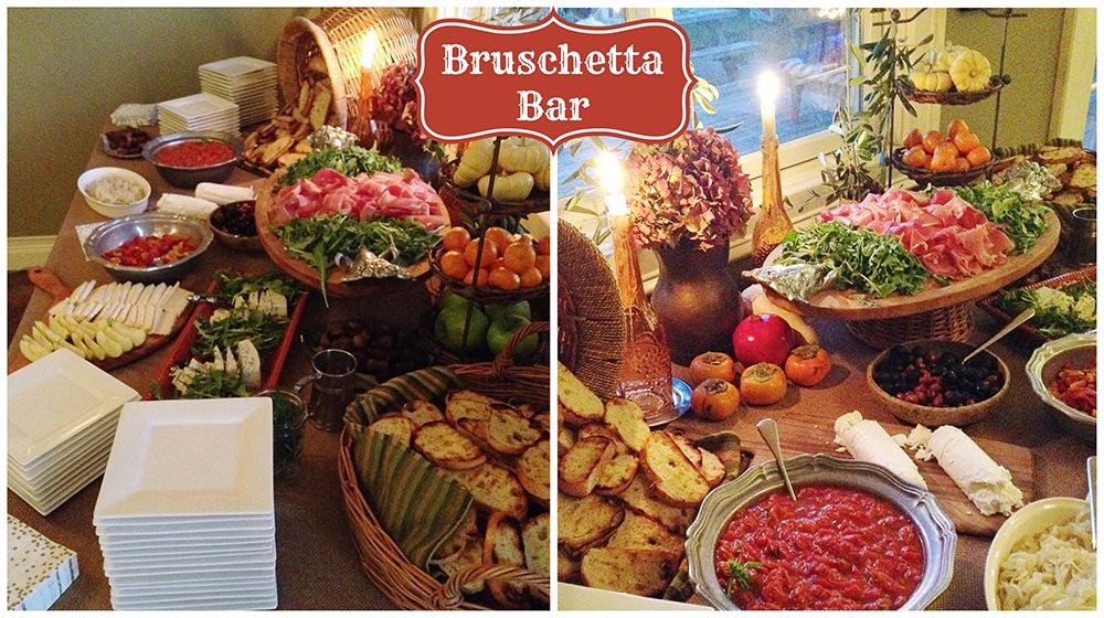 Bruschetta bar food ideas for your next party just for Food bar ideas for a party