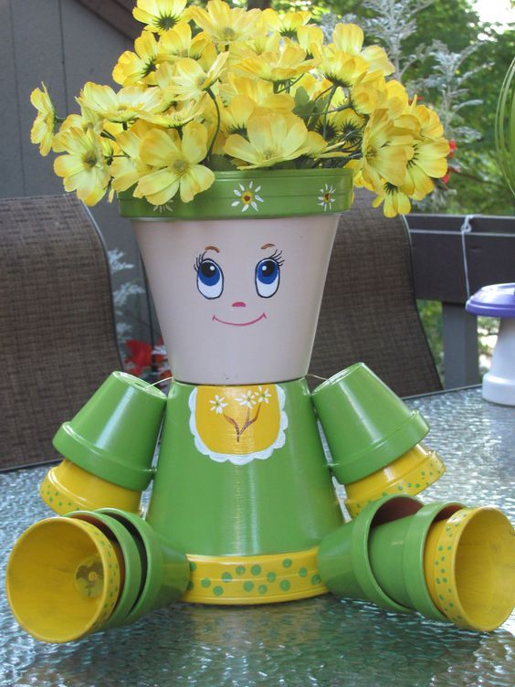 Amazing Diy Clay Pot People Learn How To Make Them Clay Pot Crafts Clay Flower Pots Clay Pot People