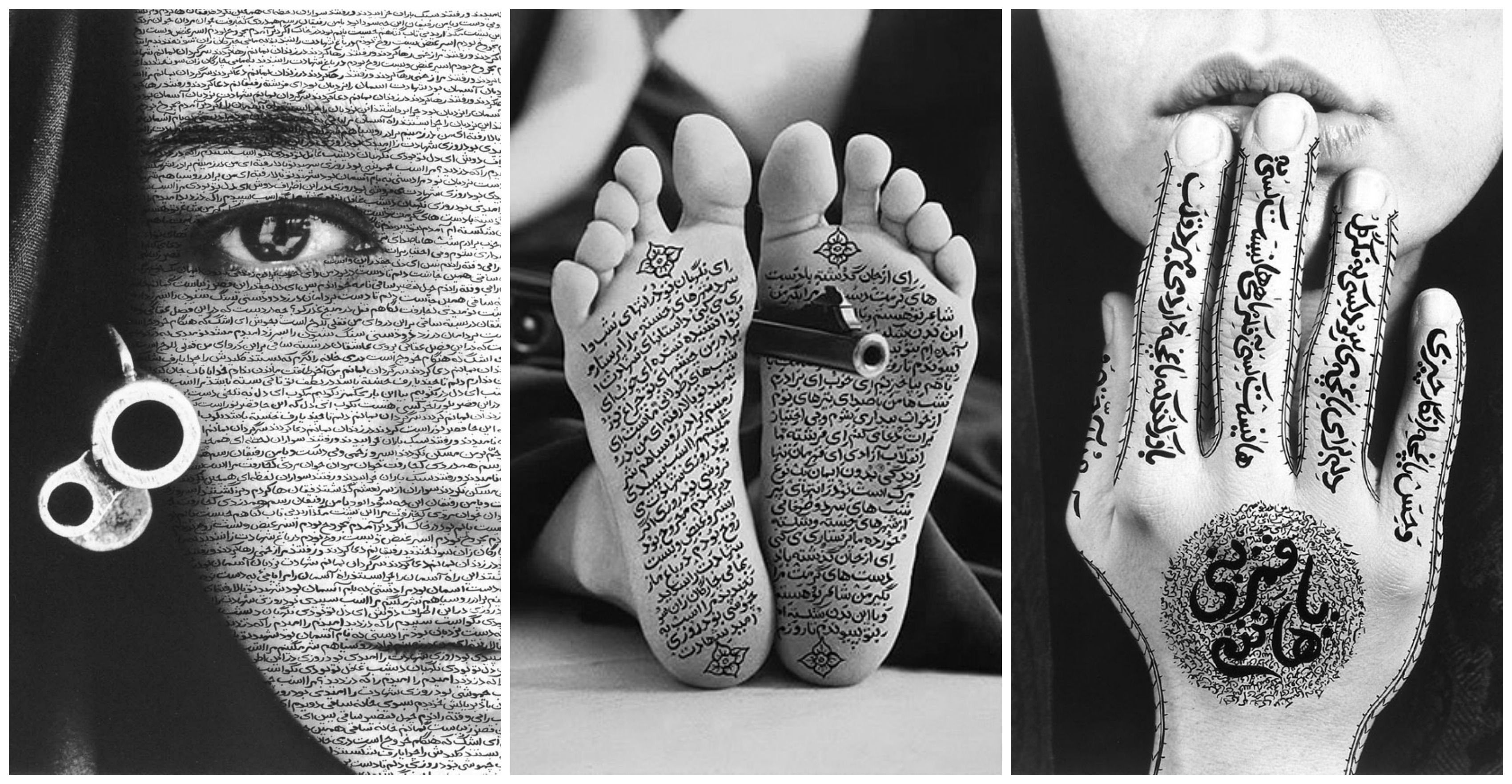 Shirin neshat iraq artist depicting arabic writing with symbols of shirin neshat iraq artist depicting arabic writing with symbols of violence to speak out against the buycottarizona Choice Image