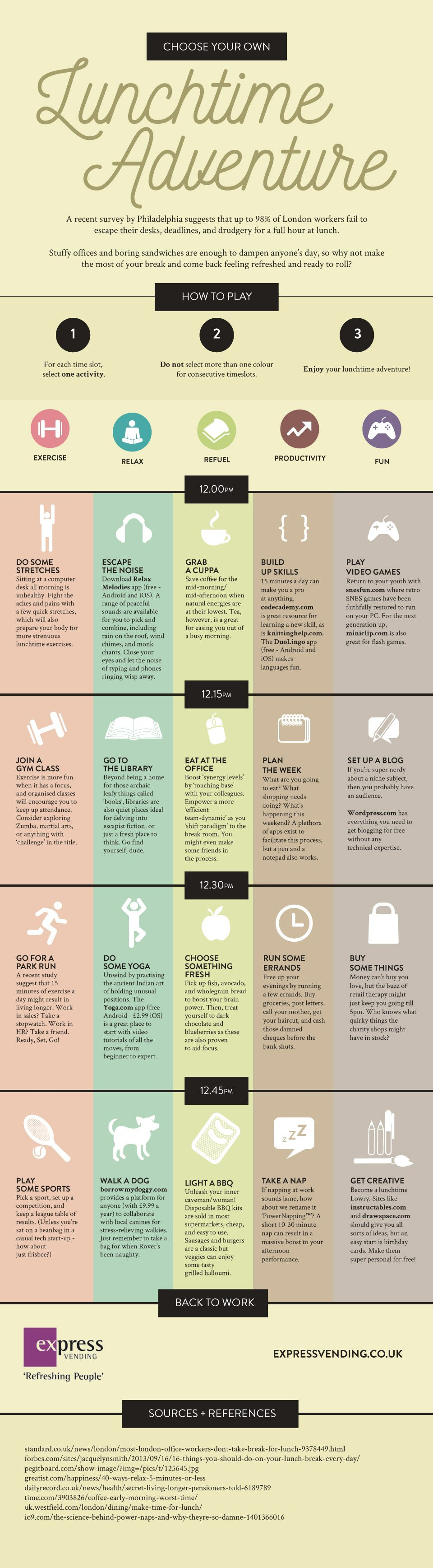 Choose Your Own Lunchtime Adventure #infographic