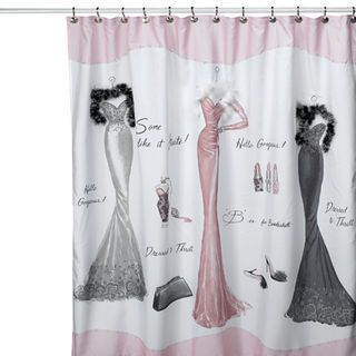 Shower Curtains Go Glam With Images Modern Shower Curtains