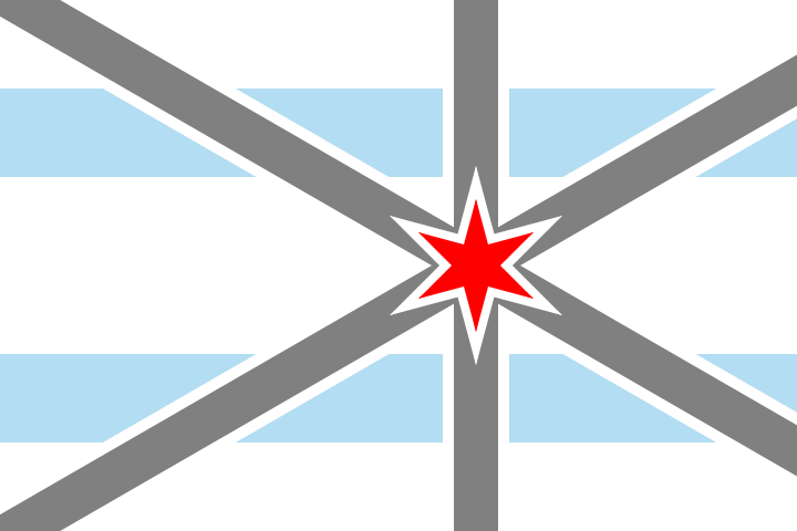 This Flag Is Based Off The Flag Of Chicago The Third Star Of Which Represents The World S Columbian Exposition One Of The Four Defining Historical Events