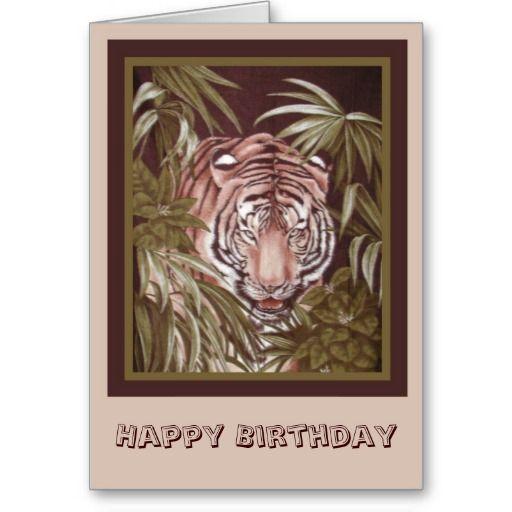 Tiger Birthday Greeting Card Love This Pinterest