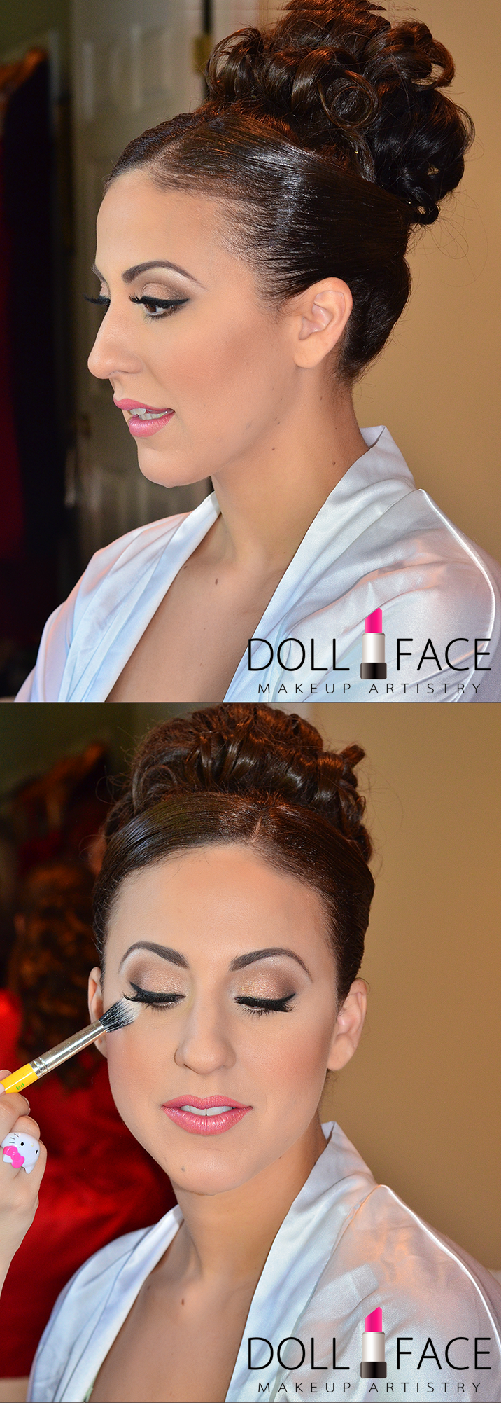 Glam Bridal Makeup Done By Doll Face Artistry NJ