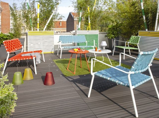 Salon de jardin colore | Outdoor | Pinterest