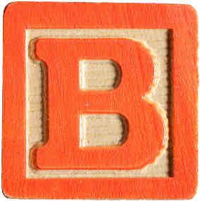 B is for Block | bah bah bah b | Letter b, Lettering, Block