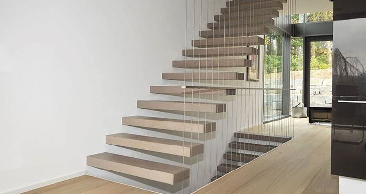 Scala a sbalzo interna in legno scale pinterest scala scale interne e legno - Scale moderne interne ...