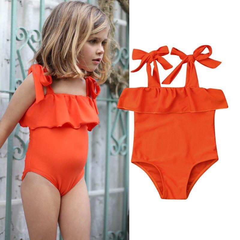 Baby Girls Toddler Kid Floral Swimwear Swimsuit Bikini Set Bathing Tankini UK