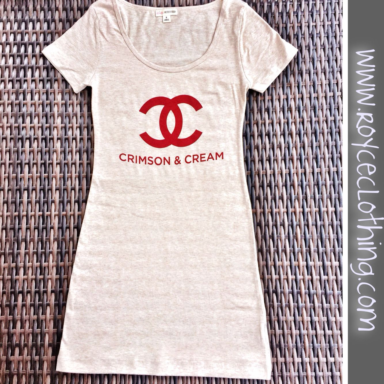 Crimson Cream Chanel T Shirt Dress Triblend S M L Www Royceclothing 30 Free Shipping