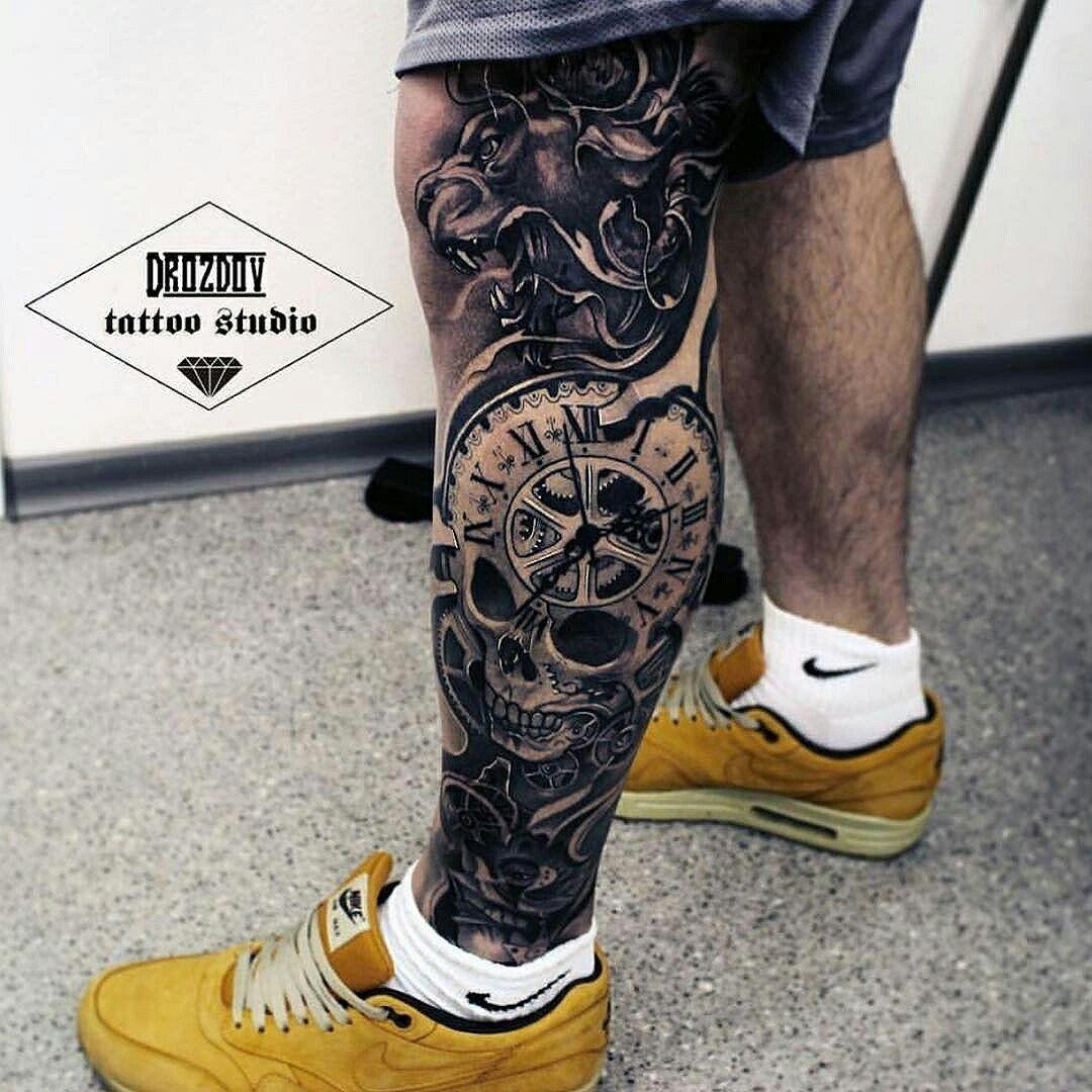 меланжевая идеи для тату на ноге мужские фото сможем быстро