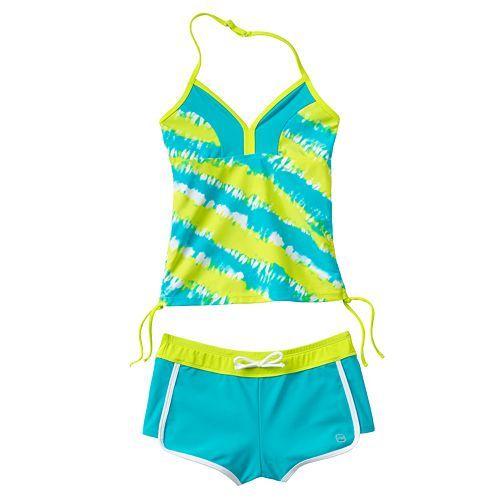 3af0fd6c7d Free Country Tie-Dye 2-pc. Halterkini Swimsuit Set - Girls 7-16 ...