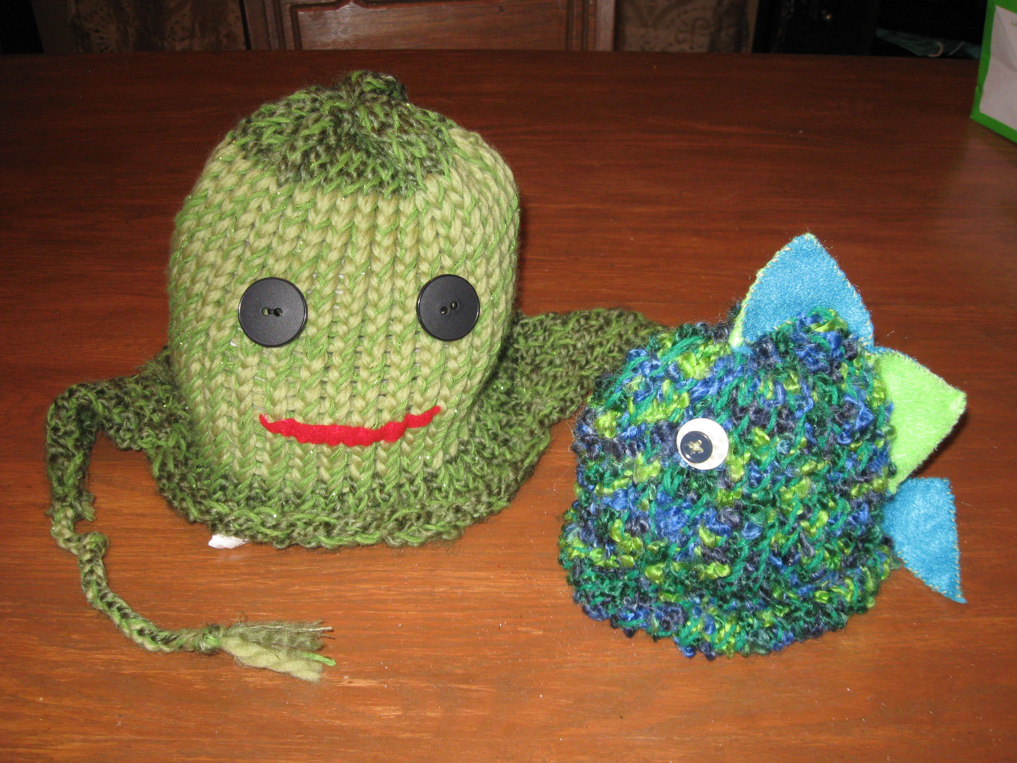 Turtle and Fish Hat!  Creative Cottage in Afton MN!  Now in Adult sizes too!