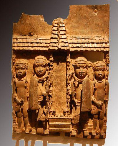 Benin plaque de laiton cour royal