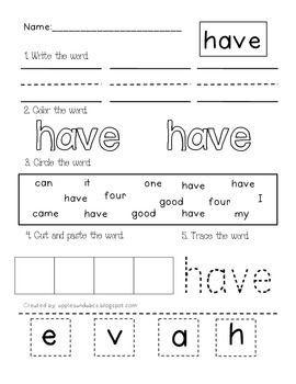dolch primer sight word printables preschool lesson plans sight word worksheets sight words. Black Bedroom Furniture Sets. Home Design Ideas