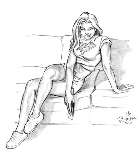 Nude super girl drawing — photo 4