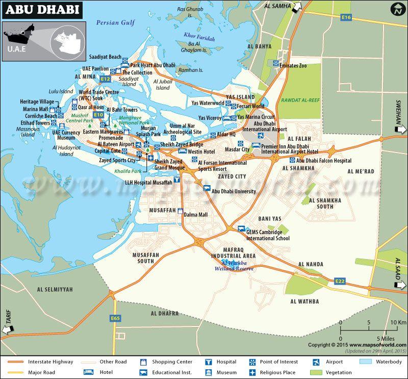 Abu Dhabi Map City Map Of Abu Dhabi Capital Of Uae Abu Dhabi Dubai World Uae National Day