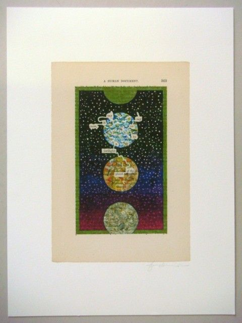 RA Summer Exhibition 2015 work 1122 :�A HUMUMENT P.363: TWILIGHT OF THE PLANET by Tom Phillips RA, �375.�