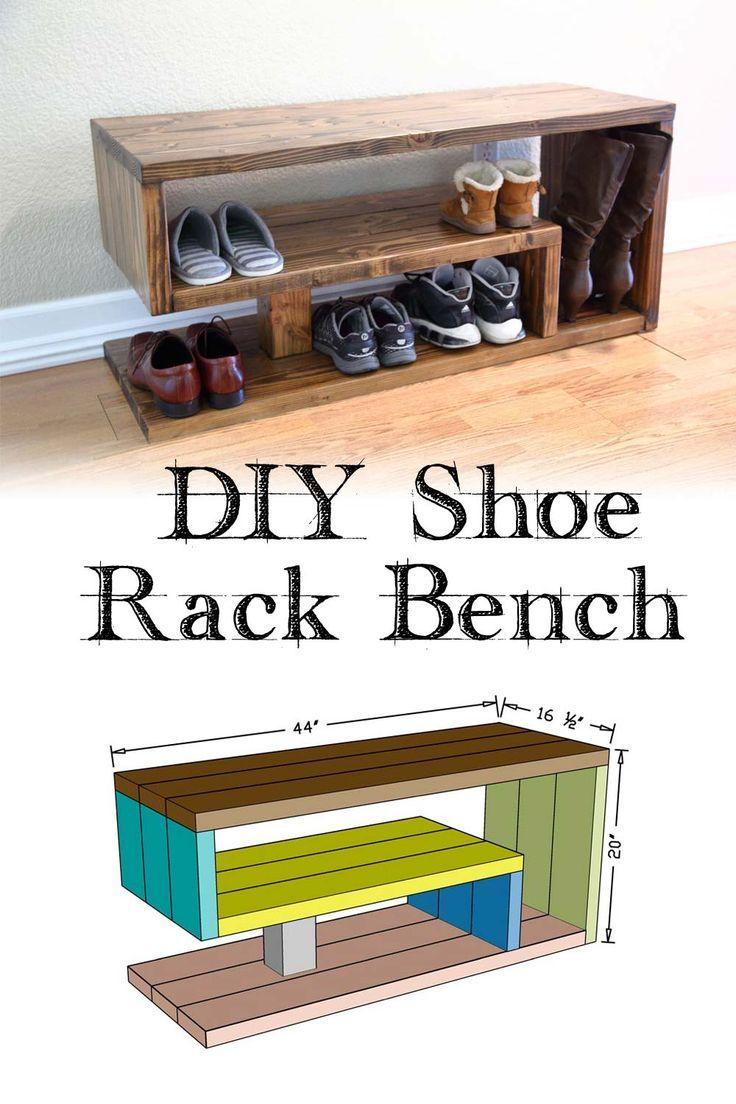 DIY Shoe Rack Bench