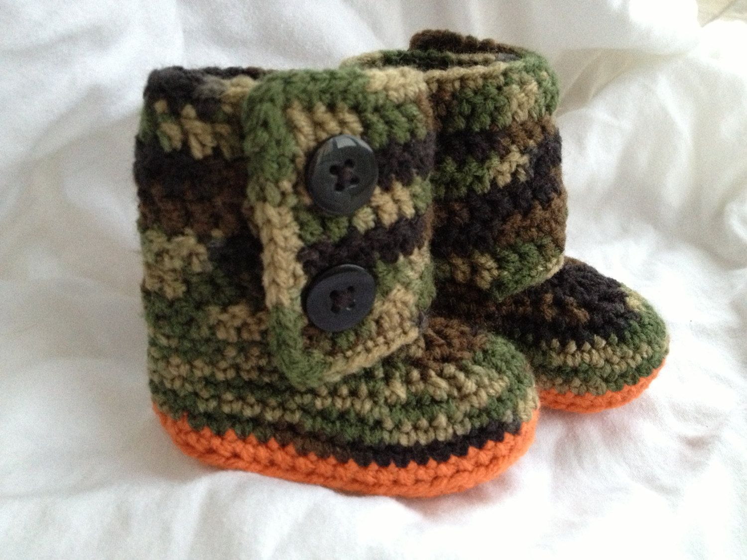 Baby+Camo+Boots++Crochet+Baby+Booties+by+cmiron+on+Etsy,+$20.00 ...