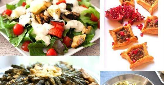 سفرة رمضان محشي ورق العنب وعيش السرايا Turkish Recipes Arabic Food Recipes