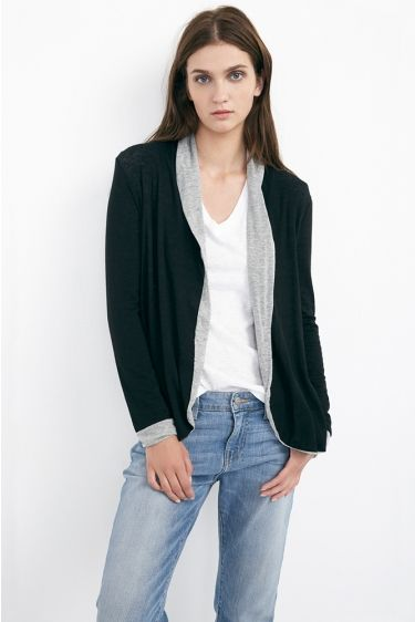 ZOILA AUTUMN GAUZE REVERSIBLE CARDIGAN $158, Velvet by Graham & Spencer. http://velvet-tees.com/women/the-latest/resort-2014-collection/zoila-autumn-gauze-reversible-cardigan.html