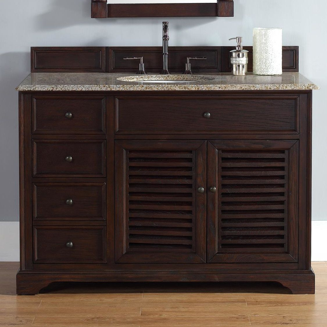 "James Martin Furniture Savannah 48"" Single Bathroom Vanity Set Beauteous Bathroom Cabinet Reviews Decorating Design"