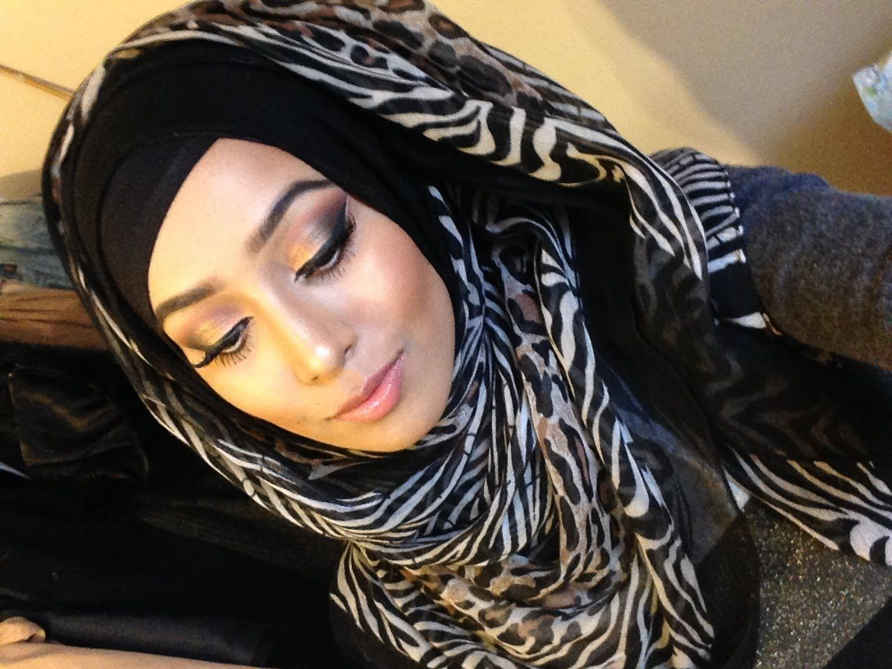 Faux Fringe Hijab Style By Rukislooks Hijab Styles Tutorials