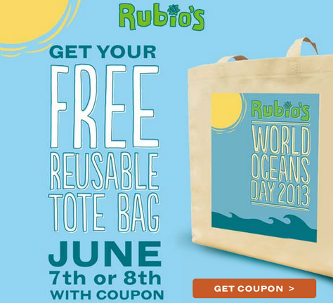 RUBIO'S Coupon for FREE Reusable Tote Bag Expires