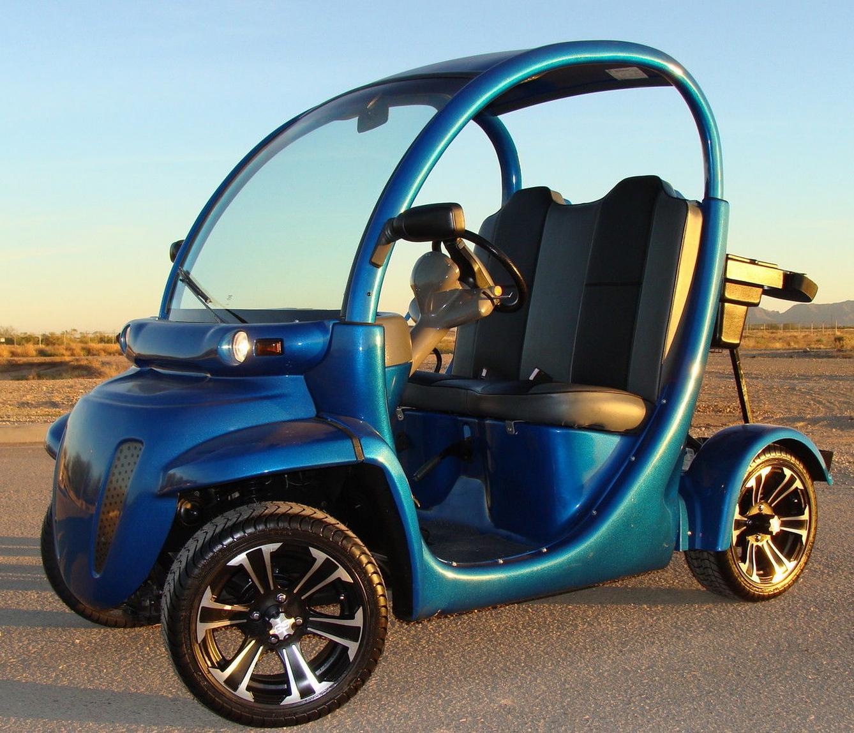 Custom Blue Gem Car E 2 Golf Cart Nev 72v All New