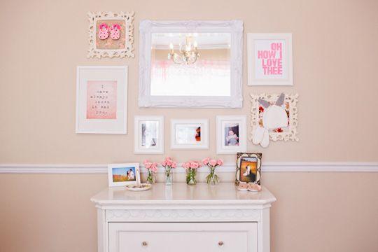 Romántica habitación para bebé niña   Pinterest   Habitación para ...