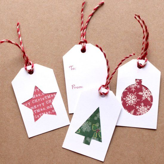 Make these easy Christmas gift tags with your scrapbook paper scraps. Post includes a free cut file.