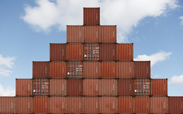 This Pyramid Of Shipping Containers Neat Freak Neat Freak